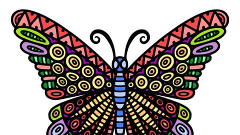 Butterfly pattern decoration design