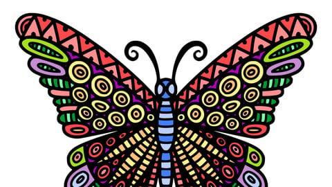 Butterfly pattern decoration design