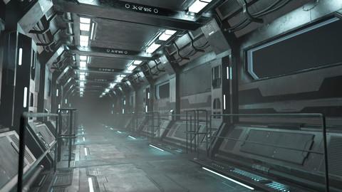 Sci-Fi Modular Corridor Version 1 - Low Poly