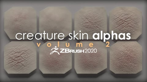 Creature Skin Alphas vol. 2 + Render Scene