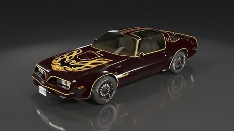 Pontiac Firebird 1977 Low Poly