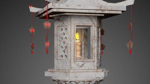 Chinese Stone Lamp