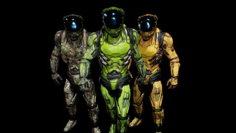 cyborg soldier v3 (unreal engine 4.22-4.25)