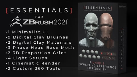 The Essentials toolkit (Zbrush 2021 only)