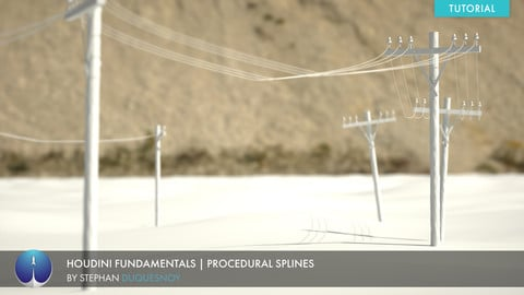 Houdini Fundamentals | Procedural Splines | Stephan Duquesnoy