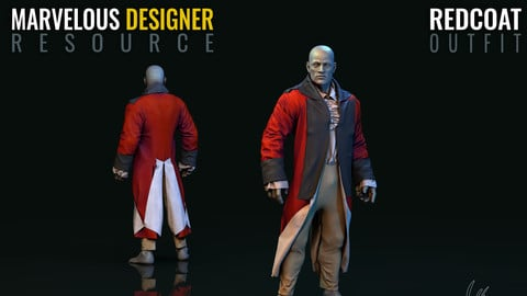 Redcoat Uniform - Marvelous Designer Resource