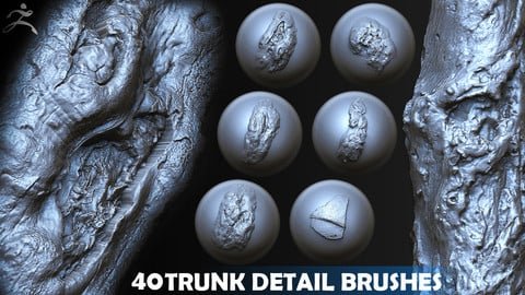 Zbrush - Trunk Detail Brushes vol. 4