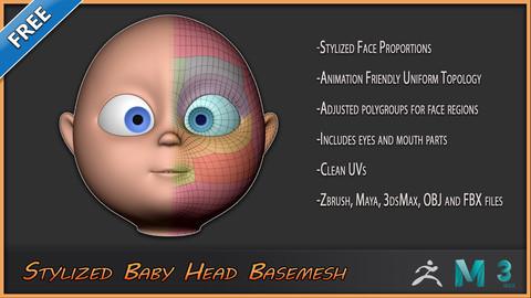 Stylized Baby Head Basemesh