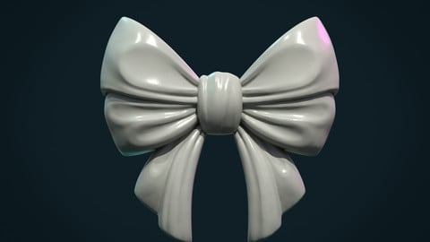 Bow Ribbon relief