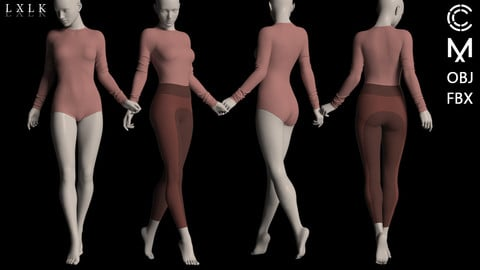 Women's Bodysuit with leggings outfit- MD, Daz3d