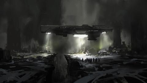 Sci-fi Spaceship PSD