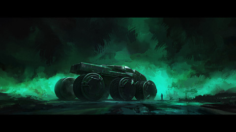 Sci-fi Vehicle PSD