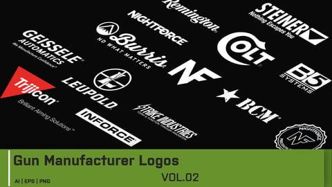 Gun Manufacturer Logos - Vector Drawings Vol 2