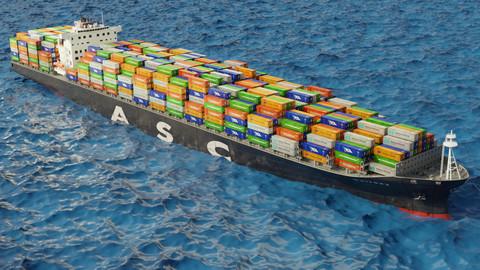 ASC Qaitbay container ship