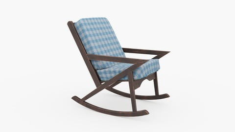 Wood Rocking Sofa Chair