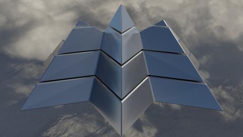 Silver Futuristic Pyramidal Build