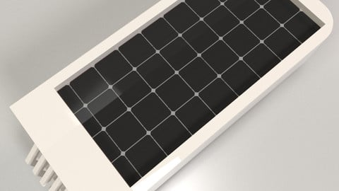 Solar Panel in Ceramic body for using in game