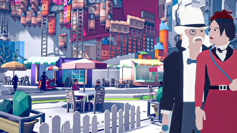 Stylized Low Poly Town Pack - ART DECO Harboria