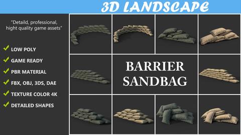 FREE Low poly Barrier Sandbag Pack 200203