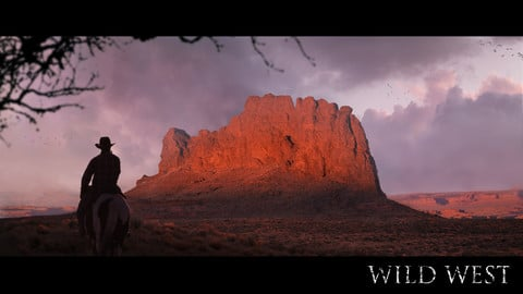 WILD WESWT-Matte painting process