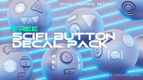 BlenderBros SciFi Button Decal Pack