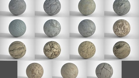 15 Various Concrete Floors Surfaces PBR Volume 2