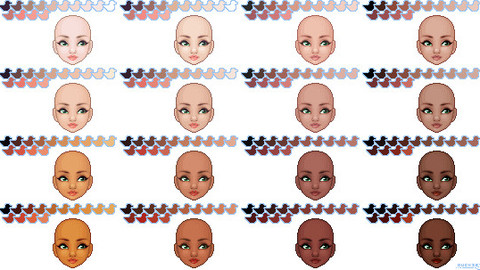skin pallettes for Clip Studio Paint and Ex