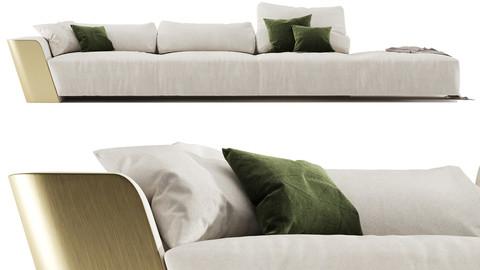 Metropol - Modular modern sofa in leather Laurameroni