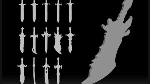 14 IMM BRUSH SWORDS BASEMESH