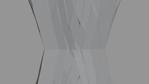 Futuristic Cubic Structure Pillar