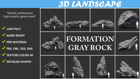 Gray Rock Formation Pack B 191227 - Gray