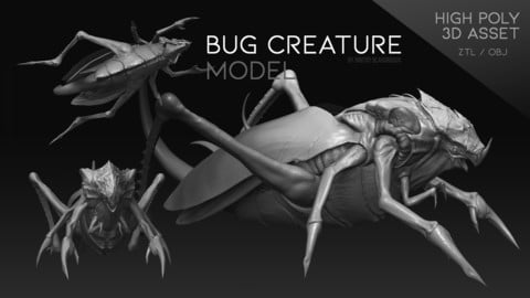 """Bug Creature"" model"