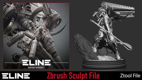 Eline_ Sculpt Zbrush File ( ztool )