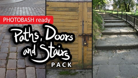 Paths, doors and stairs - PHOTOBASH ready 150+ photo pack