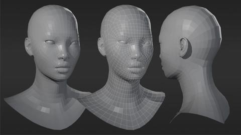 Female Asian Head