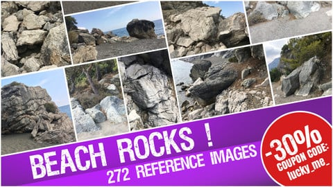 Beach Rocks - Reference images Pack