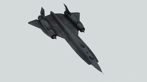 Low poly  model of a Lockheed YF-12A Interceptor aircraft