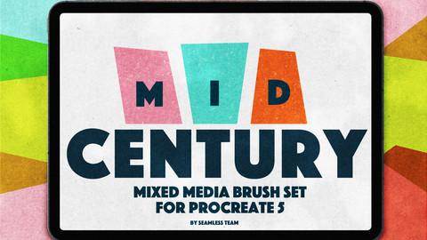 MID CENTURY BRUSHS FOR PROCREATE 5+