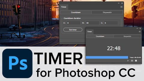 Timer for Photoshop CC