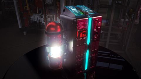 Cyberpunk sci-fi Terminal \ Computer \ Laser generator