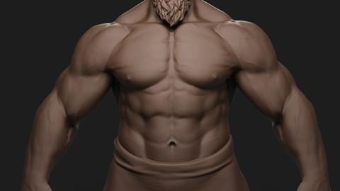 Giant Muscular Man Basemesh