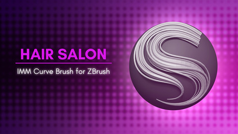 [IMM Brush] Stylized Hair Flakes and Braids Brush for Zbrush 2021