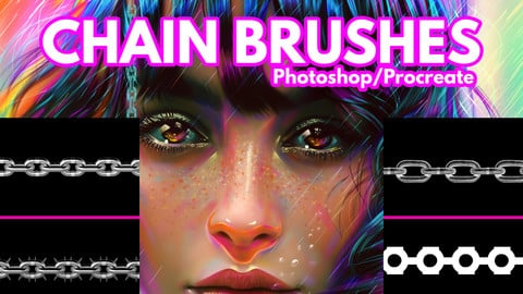 Chain Brushes for Photoshop + Procreate