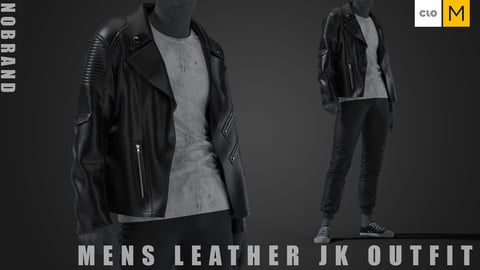 Mens - Leather JK Outfit