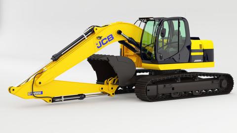 JCB-JZ255 Excavator rigged 3D model