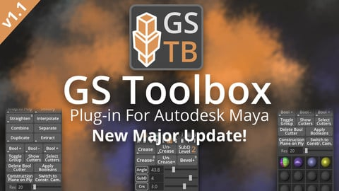 GS Toolbox v1.1 - Maya Modeling Plug-in. Interactive Creasing/Beveling, Fast Instancing and more.