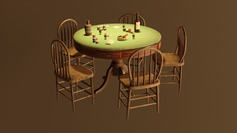 Western Poker Table - Game Ready