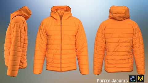 Puffer Jackets,Marvelous designer, Clo3d