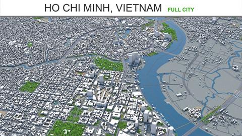 Ho Chi Minh city Vietnam 3d model 100km