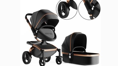 3dasset babyfond stroller and carriage